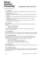 Complaints procedure