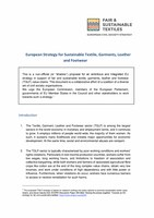 Civil Society European Strategy for Sustainable Textiles