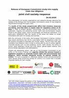 Joint civil society response to the European Commission study into supply chain due diligence