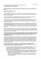 NGO letter on Sustainable Corporate Governance
