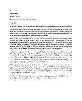 AFWA protest letter on draft NGO and TU law in Cambodia