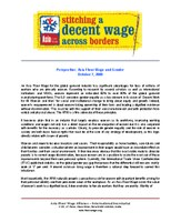 Perspective: Asia Floor Wage and Gender - October 2009