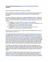 Open Data Principles support letter for EU policy