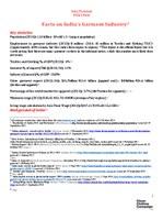 India Factsheet  February 2015