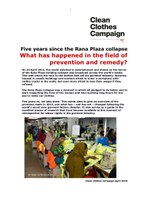 Five years since the Rana Plaza collapse: What has happened in the field of prevention and remedy?