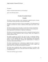 Freedom of Association protocol - Indonesia