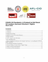 COVID-19 Pandemic: A Pretext to Roll Back Sri Lankan Garment Workersa Rights