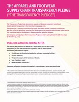 Transparency Pledge
