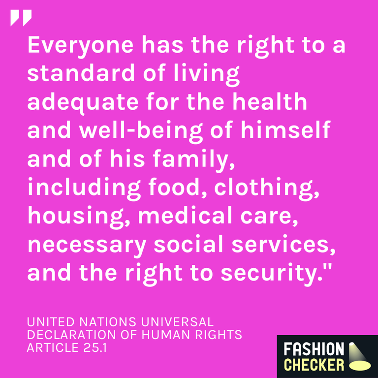 UN living wage human right