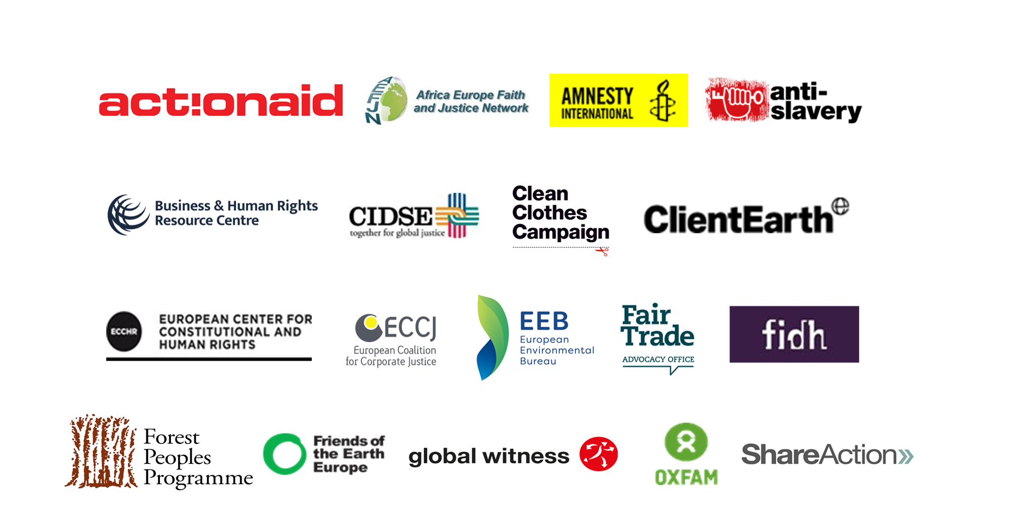Logos of the coalition