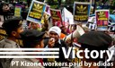 WE WON! adidas pays Kizone workers