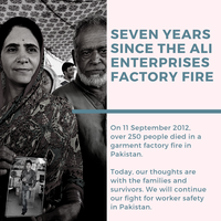 Seven years after deadly fire, garment workers in Pakistan still need a worker-led factory safety programme
