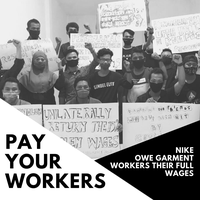 Global campaign confronts H&M, Primark, and Nike with unpaid workersa voices