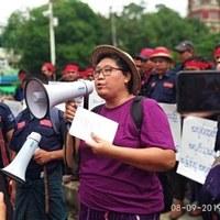 Call for immediate release of arrested labour activist Daw Myo Aye in Myanmar